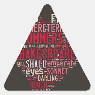 Soneto 18 de Shakespeare Pegatina Triangular