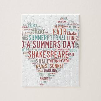 Soneto 18 de Shakespeare Puzzles Con Fotos