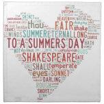 Soneto 18 de Shakespeare Servilleta De Papel