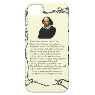 Soneto # 18 de William Shakespeare iPhone 5 Protector