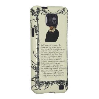 Soneto # 18 de William Shakespeare Samsung Galaxy S2 Fundas