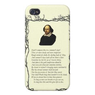 Soneto # 18 de William Shakespeare iPhone 4/4S Fundas