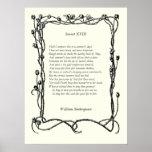 Soneto # 18 de William Shakespeare Impresiones