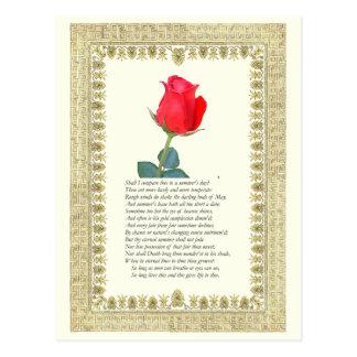 Soneto # 18 de William Shakespeare Postales