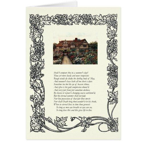 Soneto # 18 de William Shakespeare Tarjeta De Felicitación