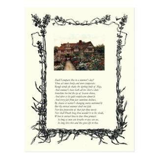 Soneto # 18 de William Shakespeare Tarjetas Postales
