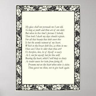 Soneto 22 de William Shakespeare Poster