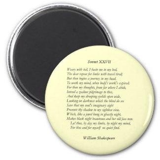 Soneto # 27 de William Shakespeare Imán De Nevera