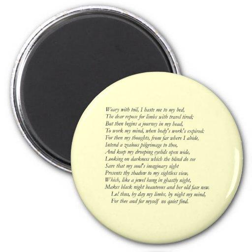Soneto # 27 de William Shakespeare Iman Para Frigorífico