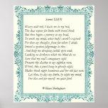 Soneto # 27 de William Shakespeare Posters
