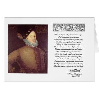 Soneto 29 con Edward De Vere Tarjeta De Felicitación