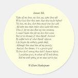 Soneto # 40 de William Shakespeare Etiquetas Redondas
