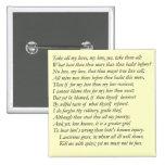 Soneto # 40 de William Shakespeare Pin