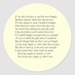 Soneto # 44 de William Shakespeare Pegatina Redonda