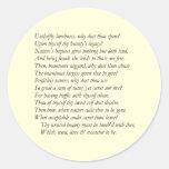 Soneto # 4 de William Shakespeare Pegatina Redonda