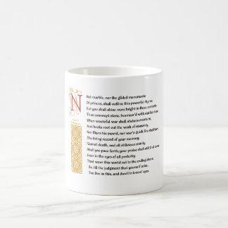 Soneto 55 (LV) de Shakespeare en el pergamino Taza De Café