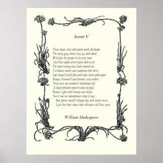Soneto # 5 de William Shakespeare Póster