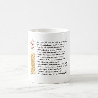 Soneto 65 (LXV) de Shakespeare en el pergamino Taza Clásica