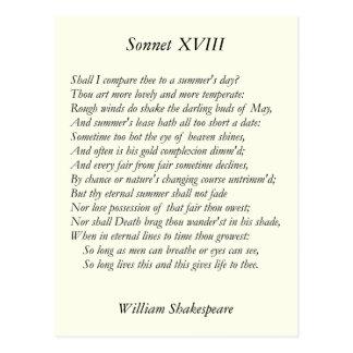 Soneto de Shakespeare # 18 Postales