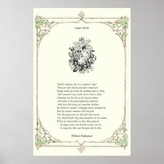 Soneto de Shakespeare # 18 Póster