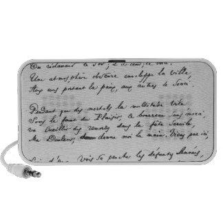 soneto firmado Recueillement', 1861 iPhone Altavoz