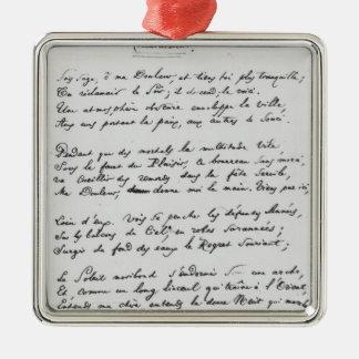 soneto firmado Recueillement', 1861 Ornaments Para Arbol De Navidad