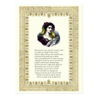 Soneto número 138 de William Shakespeare Postal
