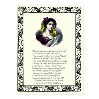 Soneto número 138 de William Shakespeare Tarjetas Postales