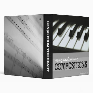 Song and Music Compositions Binder
