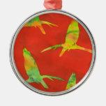 Song Bird Batik Print Christmas Tree Ornament