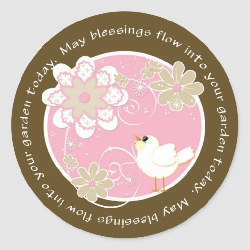 Song Bird Blessings Classic Round Sticker