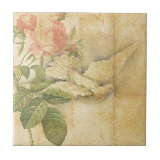 Song Bird Bring Peace Ceramic Tile