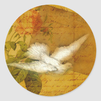 Song Bird Brings Peace Classic Round Sticker