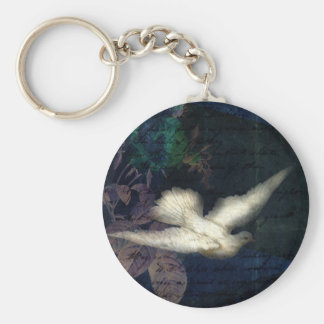 Song Bird Brings Peace Keychain
