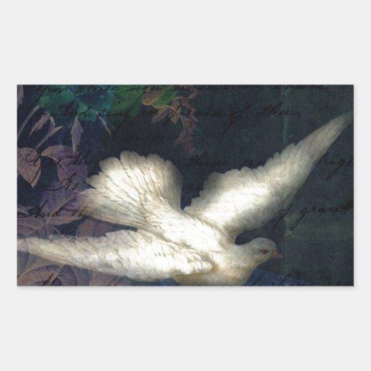 Song Bird Brings Peace Rectangular Sticker