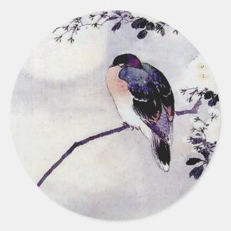 Song Bird Japanese print Classic Round Sticker