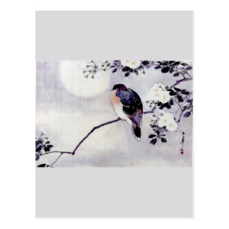 Song Bird Japanese print Postcard