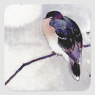 Song Bird Japanese print Square Sticker
