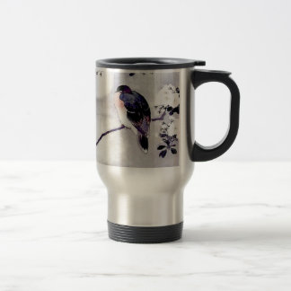 Song Bird Japanese print Travel Mug