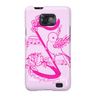 Song Bird On A Musical Note With Daisies Samsung Galaxy S Covers