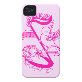 Song Bird On A Musical Note With FDaisies iPhone 4 Cover