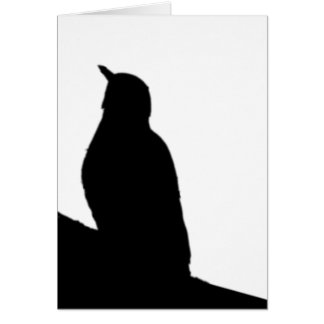 Song Bird Silhouette Blank Card