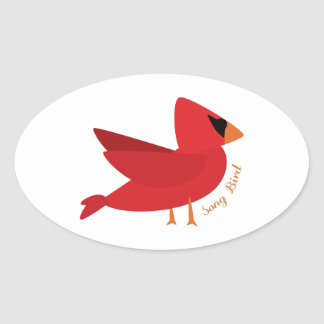 Song Bird Oval Stickers