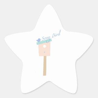 Song Bird Star Sticker