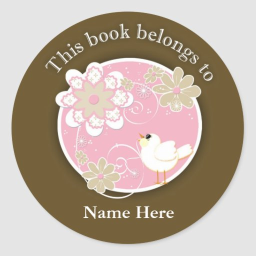 Song Bird This Book Belongs To Stickers