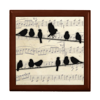 Song birds on a Wire Trinket box