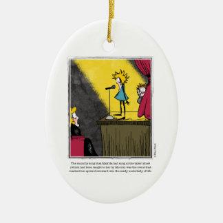 SONG cartoon by Ellen Elliott Ceramic Ornament