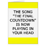 song final countdown now playing your head greeting card
