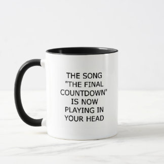 song final countdown now playing your head mug