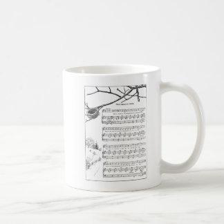 Song for Abandoned Nest in Fall Basic White Mug